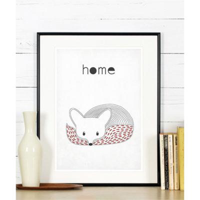 lis-fox-home-plakat-skandynawski-scandinavian-poster-a