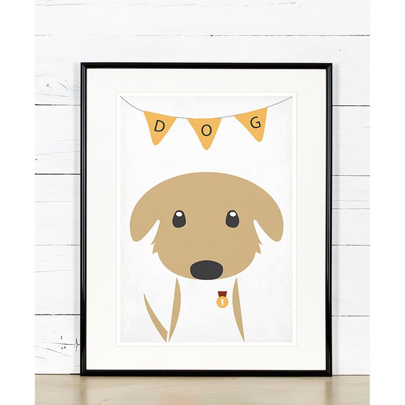 Plakat Do Pokoju Dziecka Dog Zwierzęta