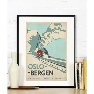 oslo-bergen-skandynawia-plakat-podroze-a