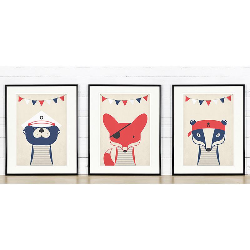 Plakaty Do Pokoju Dziecka Zwierzęta Piraci