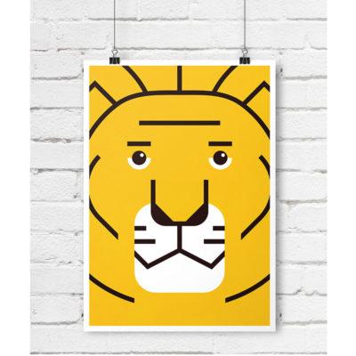 lew plakat skandynawski dla dzieci A