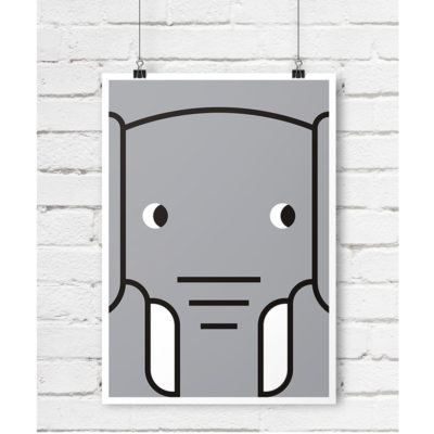 slon plakat skandynawski dla dzieci A
