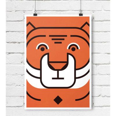 tygrys plakat skandynawski dla dzieci A