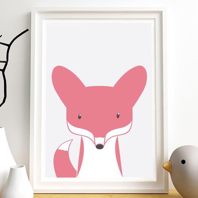 Plakat Dla Dzieci Lis Zwierzęta