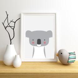 Mock Up Poster Frame, Nursery Interior, 3d Render