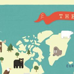world map animals