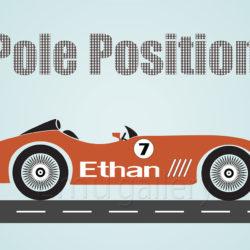 racing car POLE POSITION en